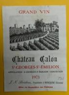 15544 - Château Calon 1973 St-Georges- Saint Emilion - Bordeaux