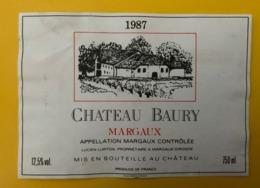 15545 - Château Baury 1987 Margaux - Bordeaux