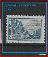ARGENTINA   1959/1971  Proceres Y Riquezas Nacionales  GJ  Catamarca. Cuesta De ZapataCatamarca. Cuesta De Zapata USED - Argentine
