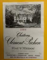 15547 - Château Clément-Pichon 1984 Haut-Médoc - Bordeaux