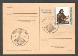 DDR 1970 Borstendorf - Chess Cancel On Postcard - Scacchi