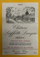 15549 - Château Laffiite Laujac 1978 Médoc - Bordeaux