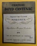 15550 - Château Boyd-Cantenac 1978 Margaux - Bordeaux
