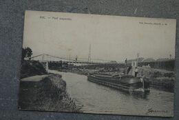 Halle Pk Cpa Pont Suspendu Binnenscheepvaart Peniches - Halle