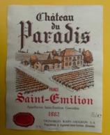 15551 - Château Du Paradis 1982 Saint-Emilion - Bordeaux
