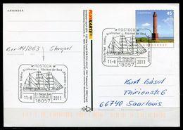 "Germany 2011 PLUSKARTE Leuchtturm Mi.Nr.PSo 103 I Als Motiv Stempelbeleg Mit SST""18057 Rostock-21.Hanse Sail ""1 GS Used - Maritime"