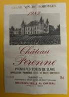 15553 - Château Perenne 1982 1ères Côtes De Blaye - Bordeaux