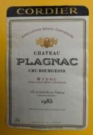 15554 - Château Plagnac 1985 Médoc - Bordeaux