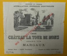 15555 - Château La Tour De Mons 1985 Margaux - Bordeaux