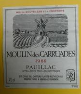 15556 - Château Des Carruades 1980 Pauillac - Bordeaux