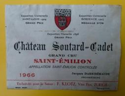 15557 - Château Soutard-Cadet 1966 Saint-Emilion - Bordeaux
