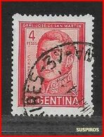ARGENTINA   1959/1971  Proceres Y Riquezas Nacionales     GRAL JOSE DE SAN MARTIN   GJ 1138  USED - Argentine