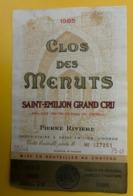 15559 - Clos Des Menuts 1985  Saint-Emilion - Bordeaux