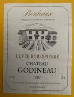15560 - Château Godineau 1987 Cuvée Robespierre - Bordeaux