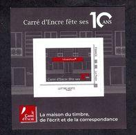 FRANCE 2019 Bloc Lettre Verte 10 Ans CARRE D'ENCRE émission Spéciale ** - Blocs & Feuillets
