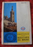 GUIDE TOURISTIQUE ESSO-STANDARD BROCHURE De PROVENCE TOUTES VILLES DES BOUCHES DU RHONE ÉDITÉE OFFICE TOURISME DÉPARTEME - Folletos Turísticos