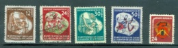 DDR    Yvert  41/44 Et 45    Ou  Michel  289/292 Et 293   Ob   B/TB - [6] Democratic Republic