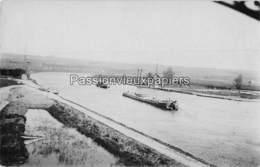 CARTE PHOTO ALLEMANDE WADELINCOURT 1917 PONT DETRUIT Sur La MEUSE PENICHE - Other Municipalities