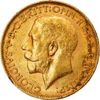 Monnaie, Australie, George V, Sovereign, 1917, Perth, TTB+, Or, KM:29 - 1855-1910 Handelsmunt