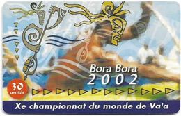 French Polynesia - OPT - Bora Bora 2002 - 03.2002, Gem1A Symmetric Red, 30Units, 60.000ex, Used - Polinesia Francese