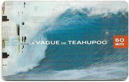 French Polynesia - OPT - La Vague De Teahupoo - Gem1B Not Symm. White/Gold, 05.2001, 60Units, 30.000ex, Used - Polinesia Francese