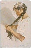 French Polynesia - OPT - Te Rouru Firi, La Natte, Gem1A Symmetr. Black, 11.1995, 60Units, 20.000ex, Used - Polinesia Francese