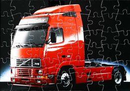 Publicité VOLVO - Mini Puzzle Format Carte Postale - Camion Truck VOLVO Tracteur Routier FH16 520- Maxi Carte  18 X 12.5 - Puzzles
