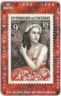 French Polynesia - OPT - La Jeune Fille De Bora-Bora - Gem1B Not Symmetr. Red, 09.1995, 30Units, 20.000ex, Used - Polinesia Francese