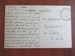 Cachet Entrepot 4, A.A.O. Armée Alliés D'Orient - Franchise Militaire - Serbie Pour Saacy - Military Postmarks From 1900 (out Of Wars Periods)