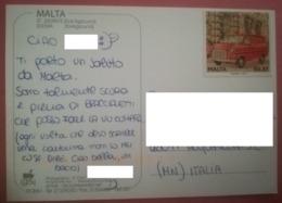 MALTA COVER TO ITALY - Malta