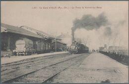 La Gare D' Ille , Le Train De Vernet Les Bains , Animée - Francia