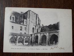 L28/1086 ABBAYE DE SAINT WANDRILLE - LE CLOITRE ET L'EGLISE - Saint-Wandrille-Rançon