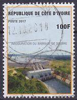 Timbre Oblitéré Côte D'Ivoire 2017 - Inauguration Du Barrage De Soubre - Costa D'Avorio (1960-...)