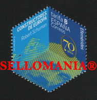 2020 ROBERT SCHUMAN CONSTRUCTORES EUROPA BUILDERS EUROPE CUBO   ** MNH TC23733 - 1931-Oggi: 2. Rep. - ... Juan Carlos I
