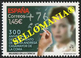 2020 MATEMATICAS MARIA ANDRESA CASAMAYOR DE LA COMA MATHEMATICS   ** MNH TC23742 - 1931-Oggi: 2. Rep. - ... Juan Carlos I