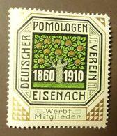 Werbemarke Cindarella Poster Stamp Deutscher Pomologen Verein Eisenach  1910 #Werbe1838 - Cinderellas