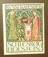 Werbemarke Cindarella Poster Stamp Kunst Kalender Schleswig Holstein   1913 #Werbe1839 - Cinderellas