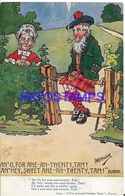 140357 ART ARTE SIGNED HAMISH OLD COUPLE SCOTLAND AND PIPE POSTAL POSTCARD - Ilustradores & Fotógrafos