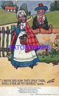 140358 ART ARTE SIGNED HAMISH OLD COUPLE SCOTLAND LOVE POSTAL POSTCARD - Ilustradores & Fotógrafos
