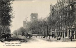 Cp Barcelona Katalonien, Gran Via, Straßenpartie - Otros