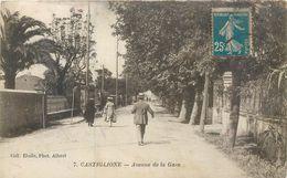 CPA Afrique Algérie Bou Ismaïl Bousmail Castiglione Avenue De La Gare - Autres Villes