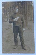 Carte Photo Camp De Prisonniers Guerre 14-18 WW1 Haus-Spital Münster Soldat Hascoët Sébastien Pontarlier Cast - 1914-18