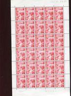 Belgie 1960 1139 Congo Independence Ship Rudder Navigation Luppi Full Sheet MNH Plaatnummer 2 - Full Sheets