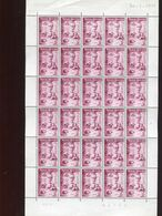 Belgie 1960 1140 Congo Independence Blood Transfusion Medicine Luppi Full Sheet MNH Plaatnummer 4 - Full Sheets