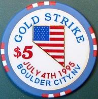 $5 Casino Chip. Gold Strike, Boulder City, NV. O51. - Casino