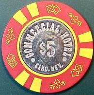 $5 Casino Chip. Commercial, Elko, NV. O51. - Casino