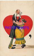 140371 ART ARTE HUMOR THE UNPARALLELED COUPLE DANCING POSTAL POSTCARD - Illustrators & Photographers