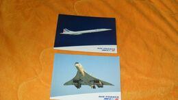 LOT DE 2 CARTES POSTALES DU CONCORDE...AVION..AIR FRANCE.. - 1946-....: Modern Era