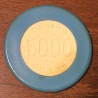 61 BAGNOLES CASINO DU LAC JETON DE CASINO DE 5000 FRANCS CHIP TOKEN COIN - Casino