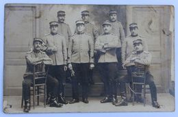 Carte Photo Pontivy Plusieurs Soldats 2 Sur Képi  2e Régiment De Chasseurs à Cheval ? Soldat Péron Audierne ? - Aviation